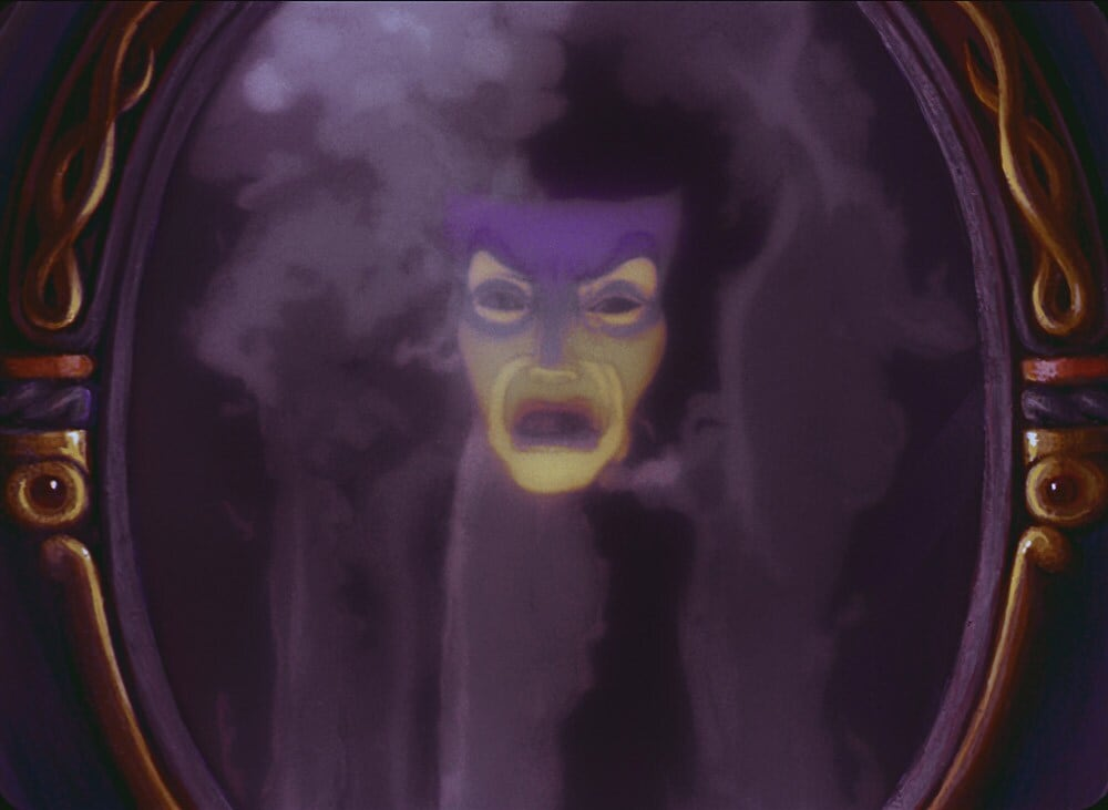 "Magic mirror from the animated movie ""Snow White and the Seven Dwarfs"""