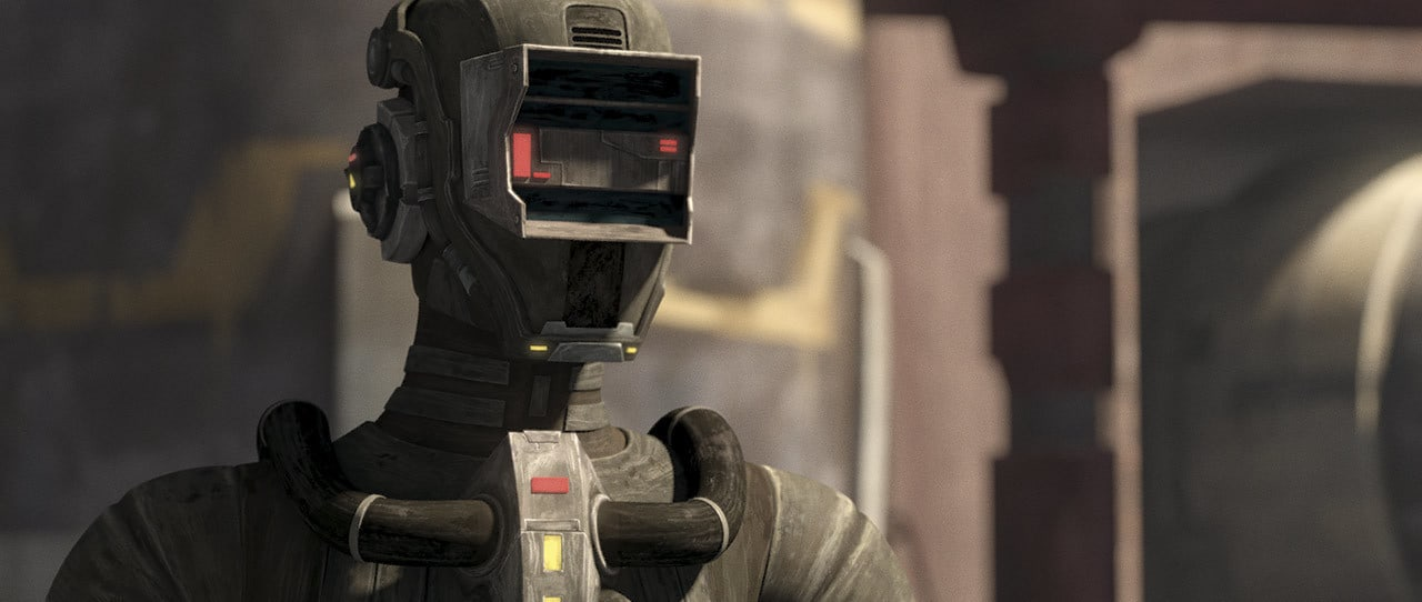 Echo dressed as a droid