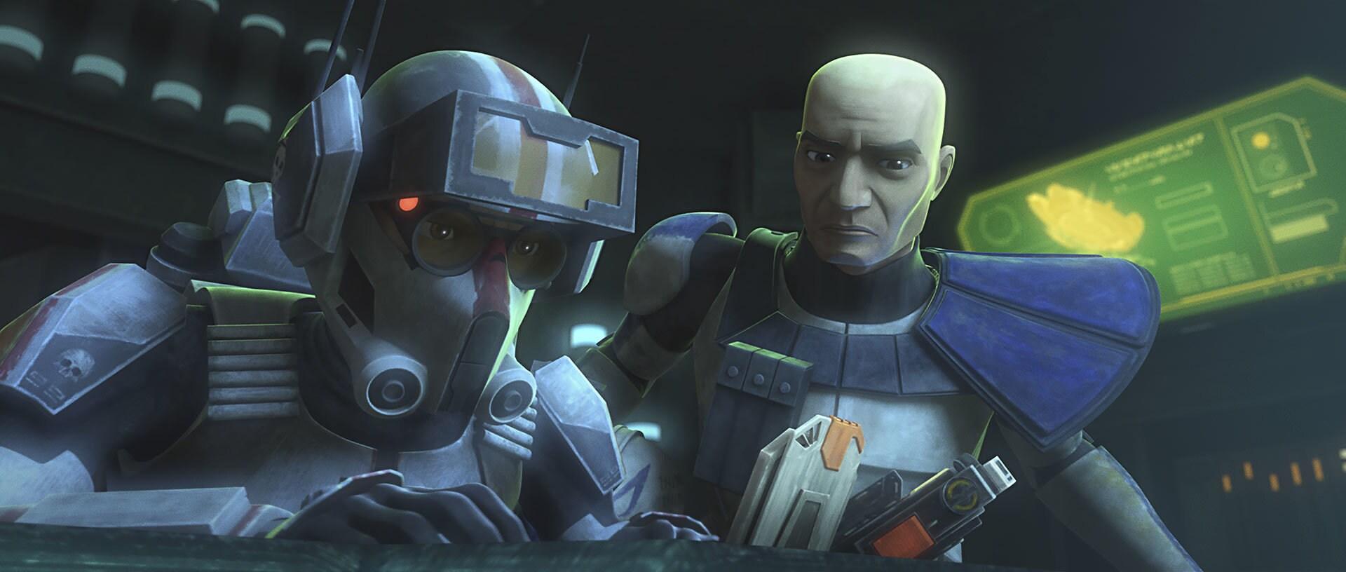 Tech and Clone Captain Rex