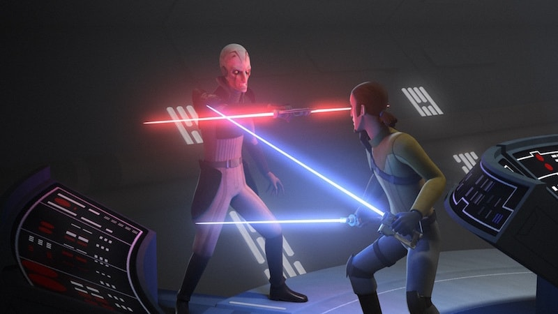 Kanan duelling the Inquisitor