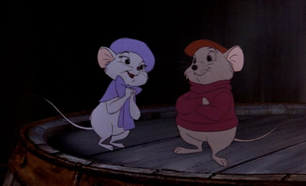 "Bernard and Bianca in ""The Rescuers"""