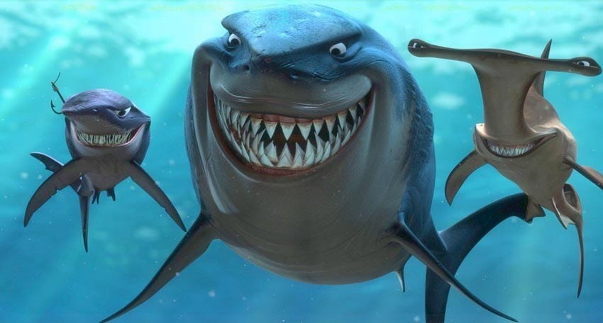 """The sharks in the animated movie """"Finding Nemo"""""""