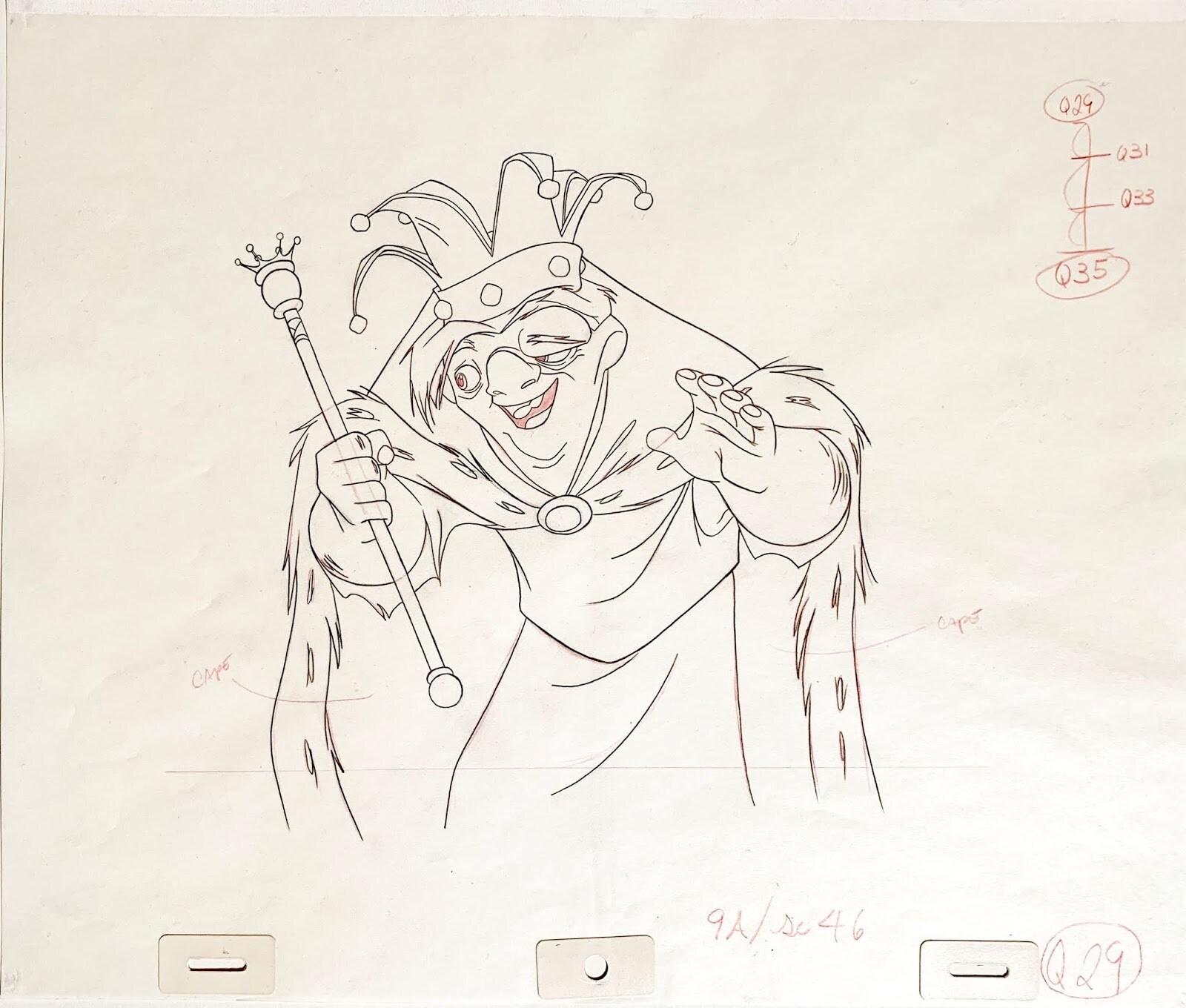Quasimodo desenhado à mão