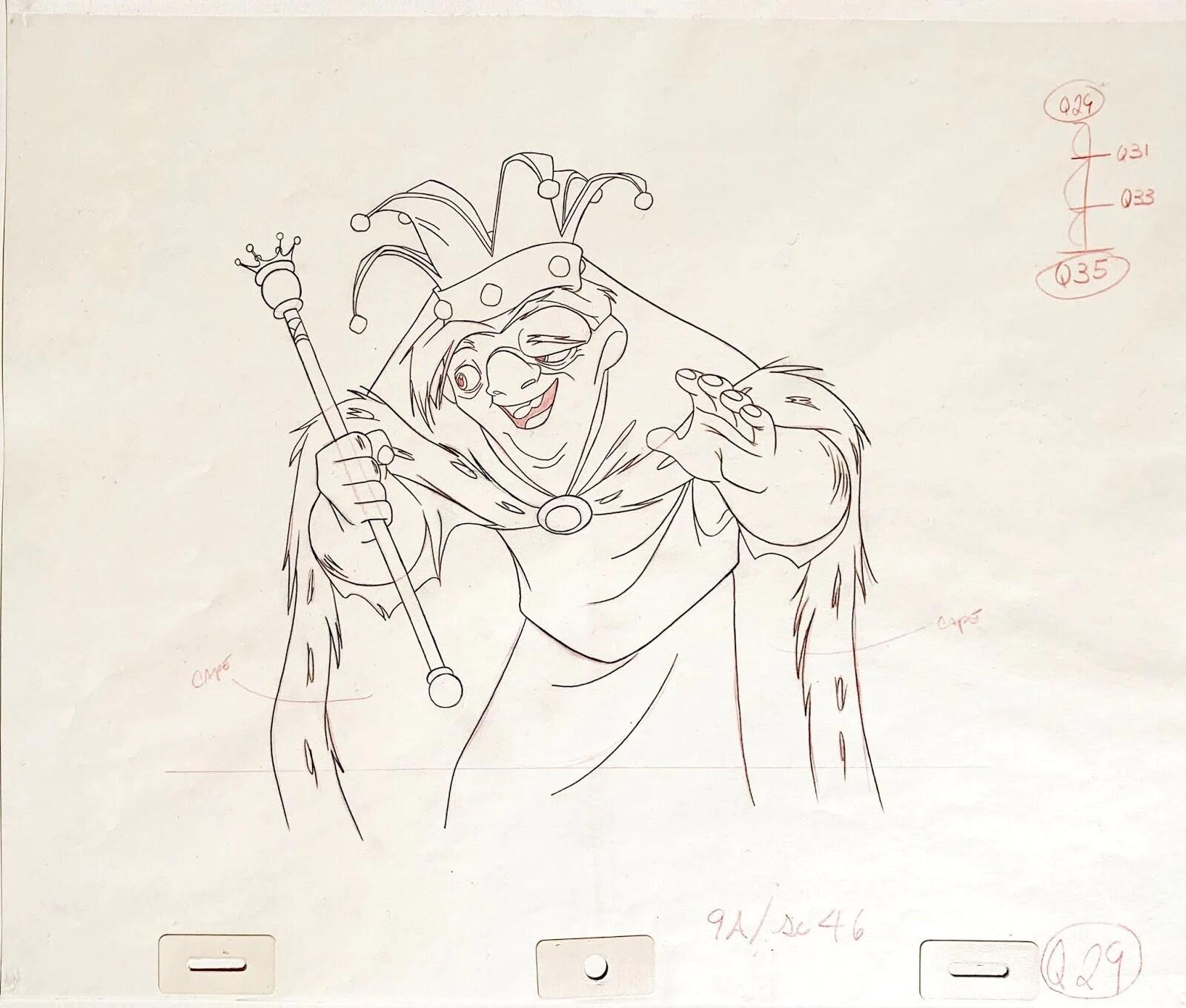 Quasimodo dibujado a mano