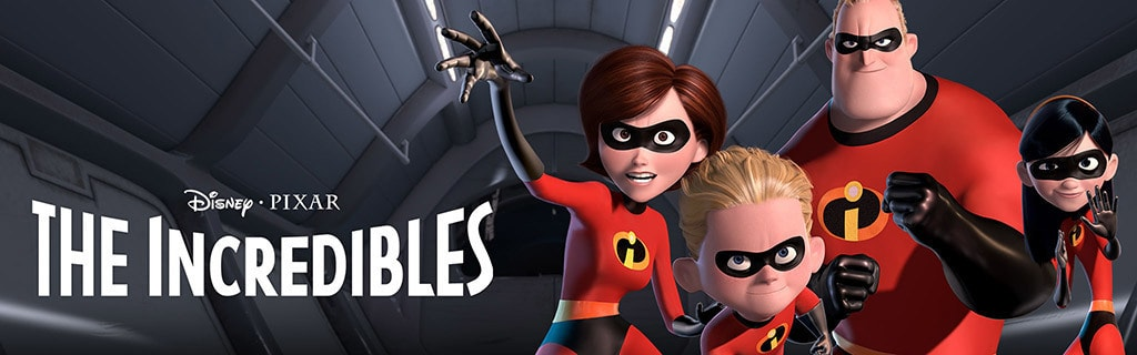 Shop AU The Incredibles movie page hero object