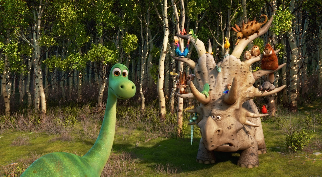 """Arlo meets other animals on this journey in """"The Good Dinosaur"""""""