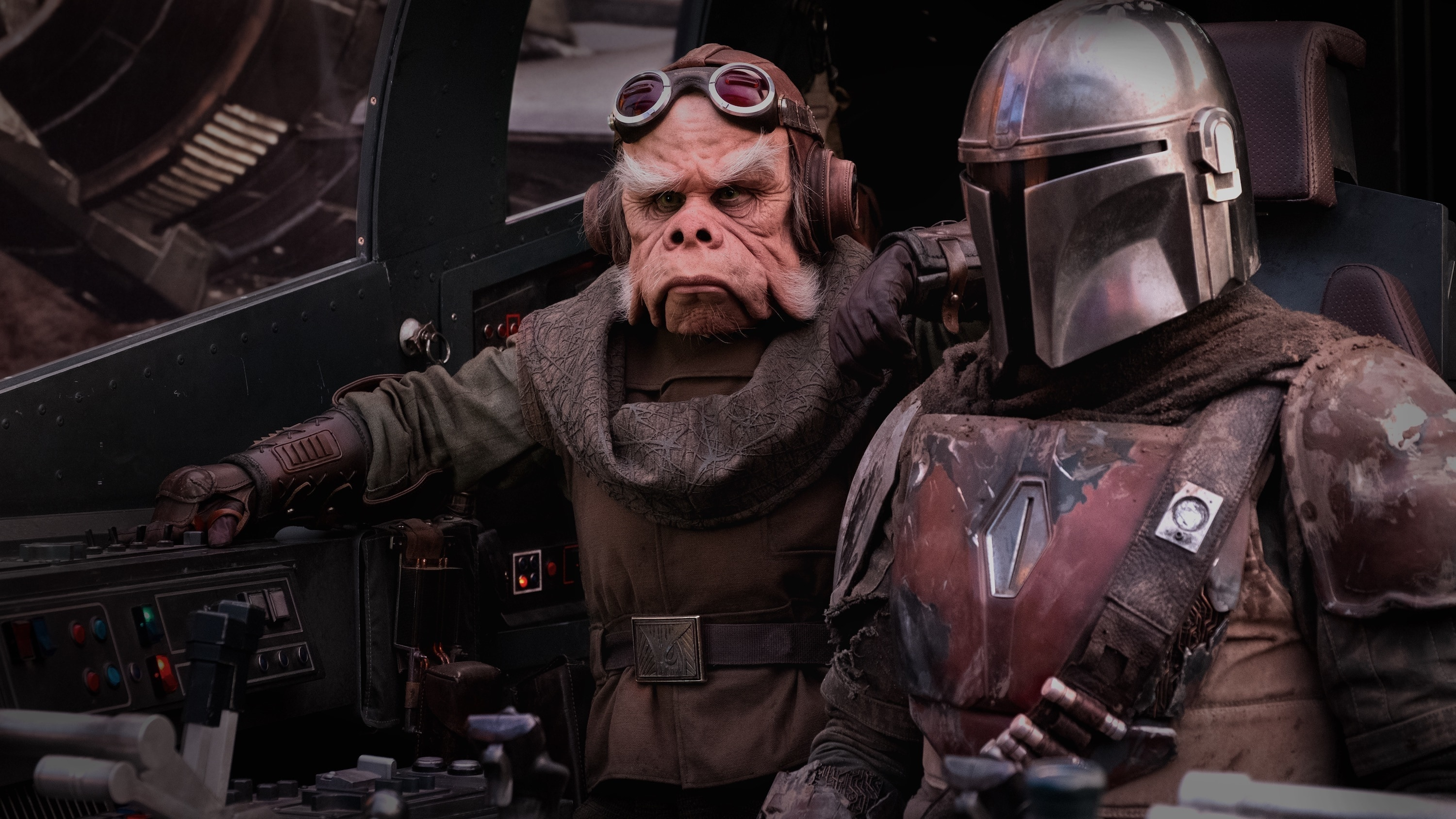 Chapter 2 Pedro Pascal is the Mandalorian and Nick Nolte is the voice of Kuiil in THE MANDALORIAN, exclusively on Disney+. © 2019 Lucasfilm Ltd & ™. All Rights Reserved.