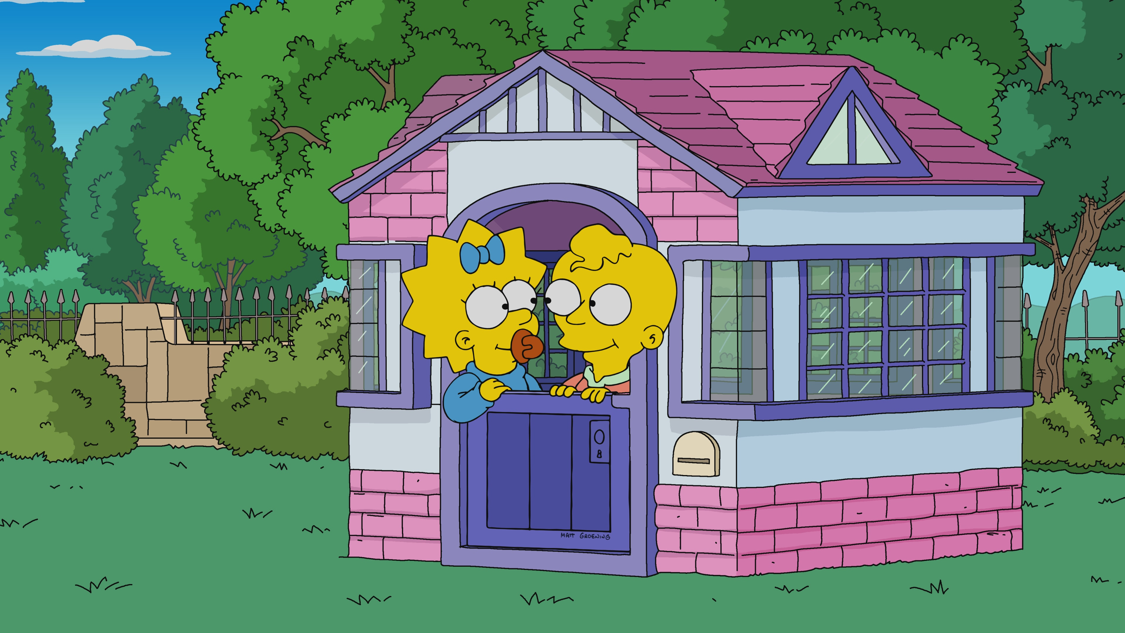 """THE SIMPSONS: Cletus becomes a helium tycoon. Meanwhile, Maggie reunites with baby Hudson from Playdate with Destiny in the """"The Incredible Lightness of Being a Baby"""" episode of THE SIMPSONS."""