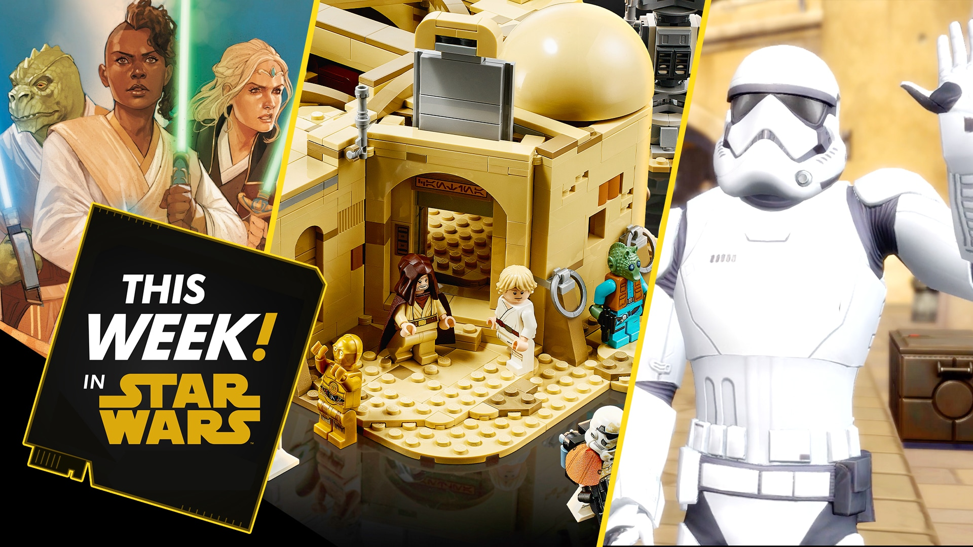 Build the LEGO Mos Eisley Cantina, Look Inside Marvel's Star Wars: The High Republic Comic, and More!