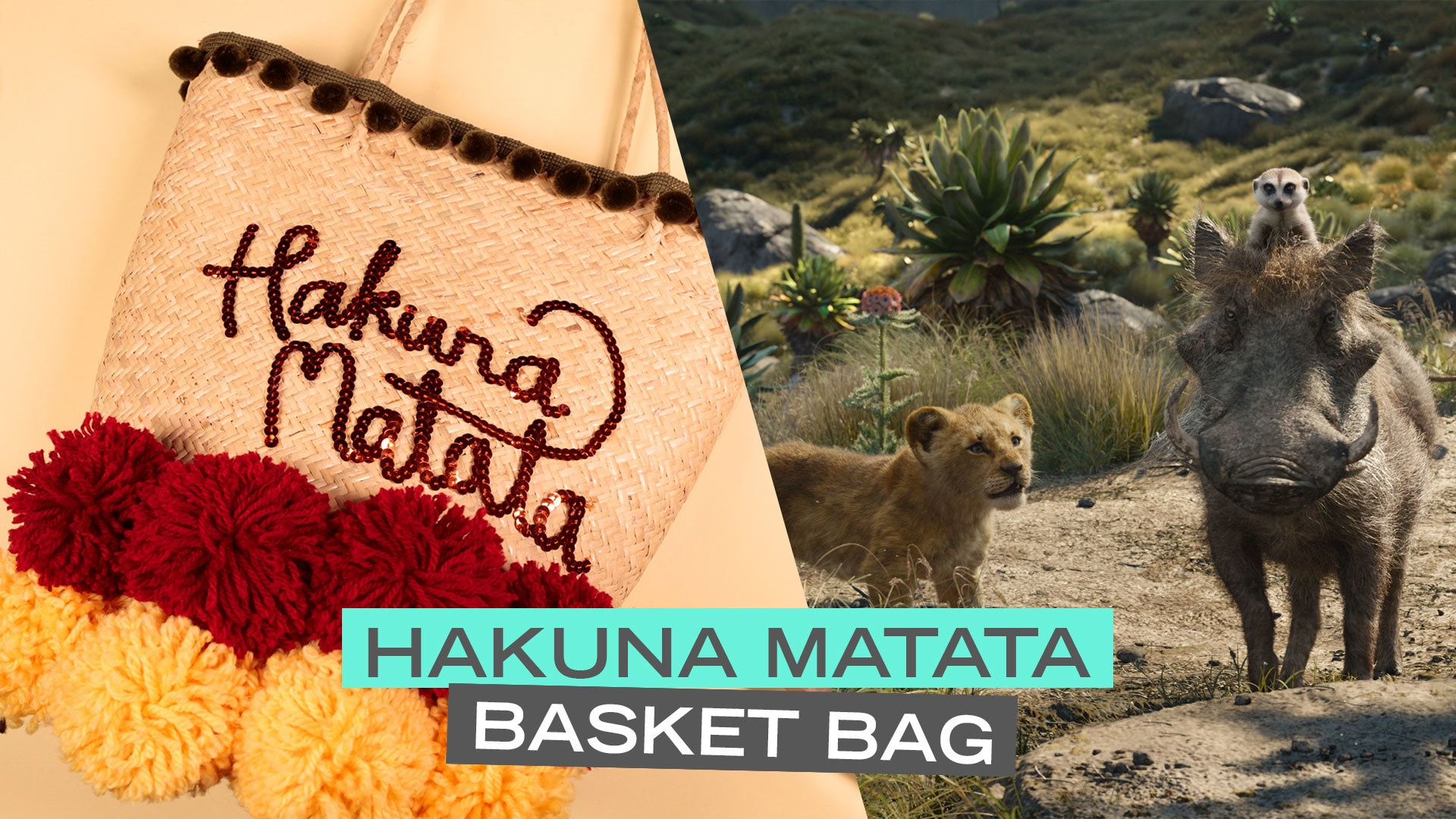Disney Style: DIY Pom Pom Basket Bag Inspired by Disney's The Lion King