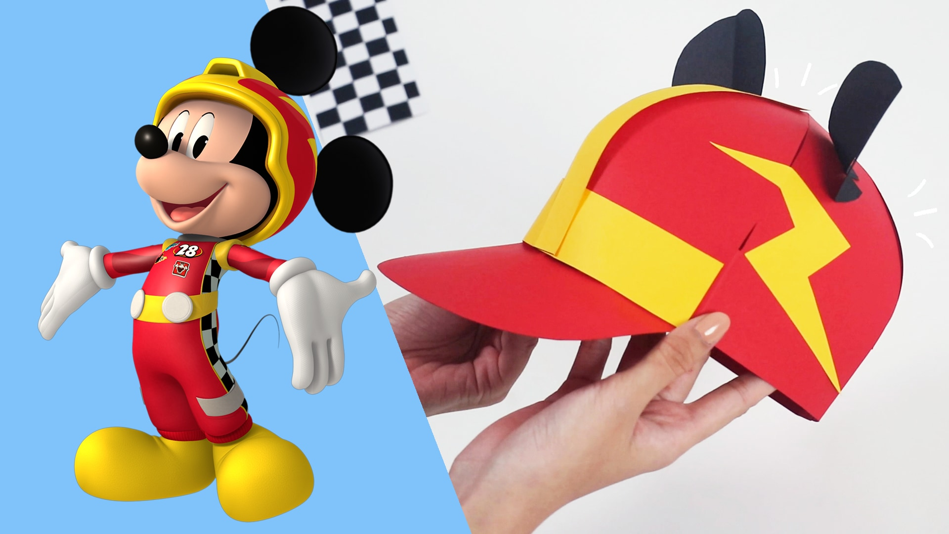 "This ""Mickey Mouse And The Roadster Racers"" Paper Craft Is Fit For Your Racecar Driver In The Making!"