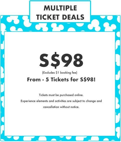 Multiple Ticket Deals - Pop Up Disney! - S$98