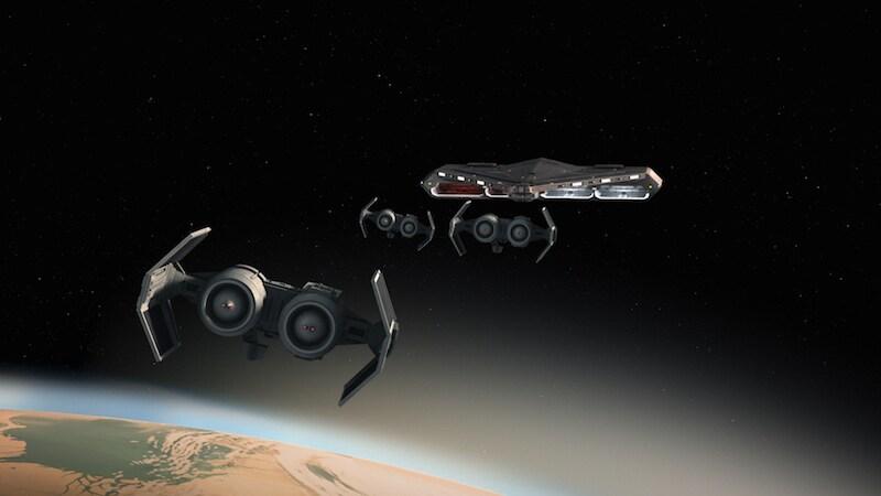 TIE Bombers over Ryloth