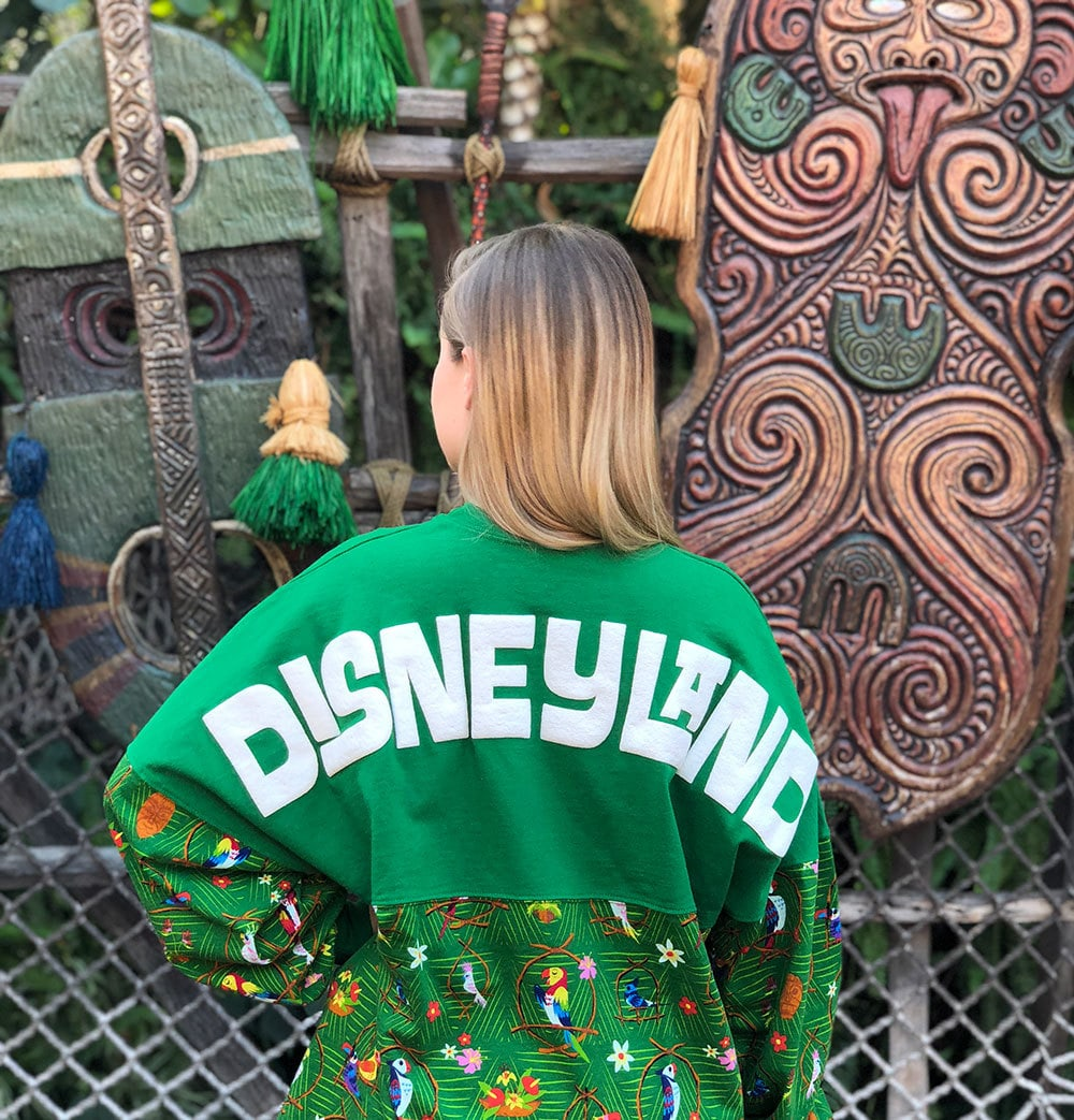 Model wearing the Enchanted Tiki Room Spirit Jersey