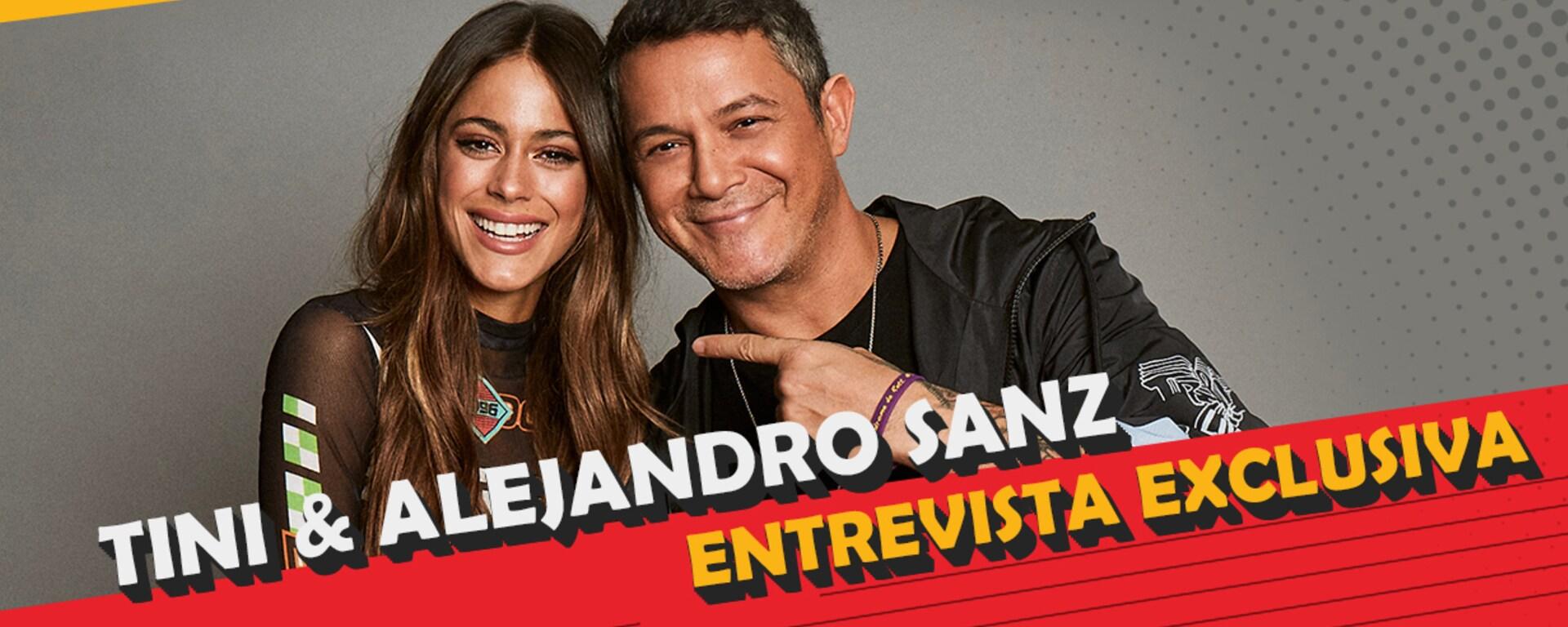Tini y Alejandro Sanz juntos en Radio Disney