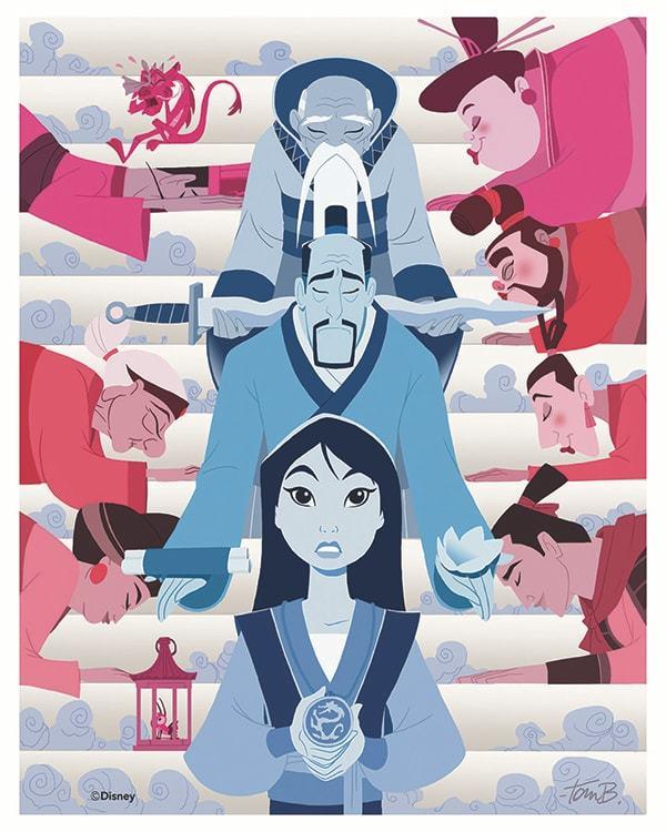 """Mulan Anniversary Poster"" by Tom Bancroft"