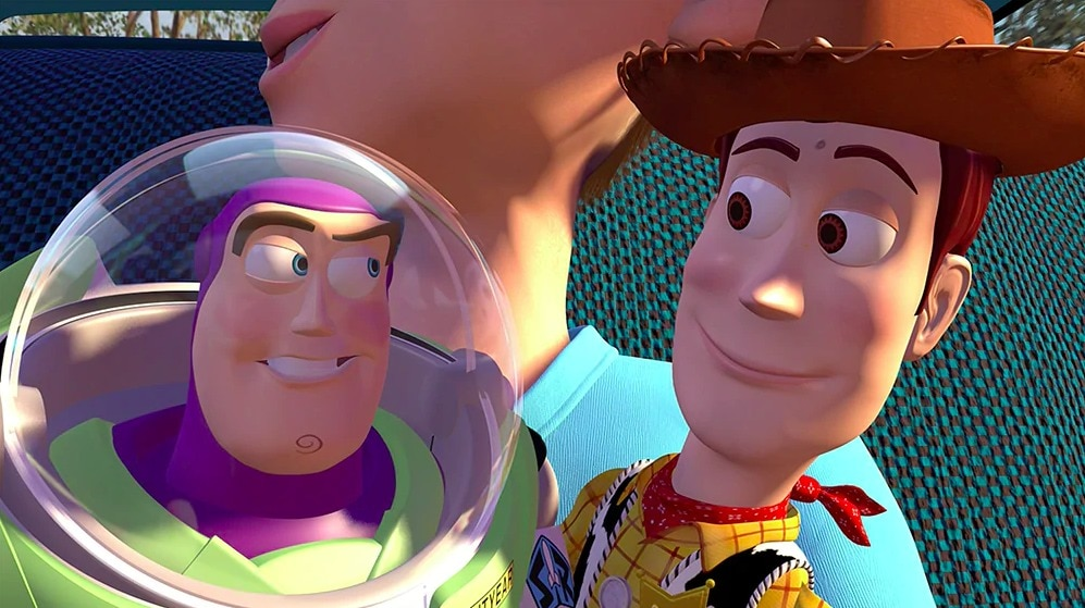 """Buzz Lightyear and Woody, from the animated movie """"Toy Story"""""""