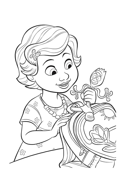 Toy Story 4 - Bonnie and Forky Colouring sheet PDF