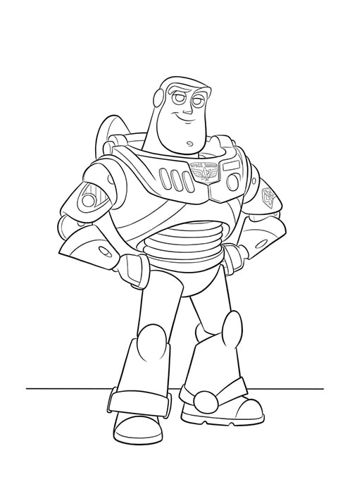 Toy Story 4 - Buzz Colouring sheet PDF