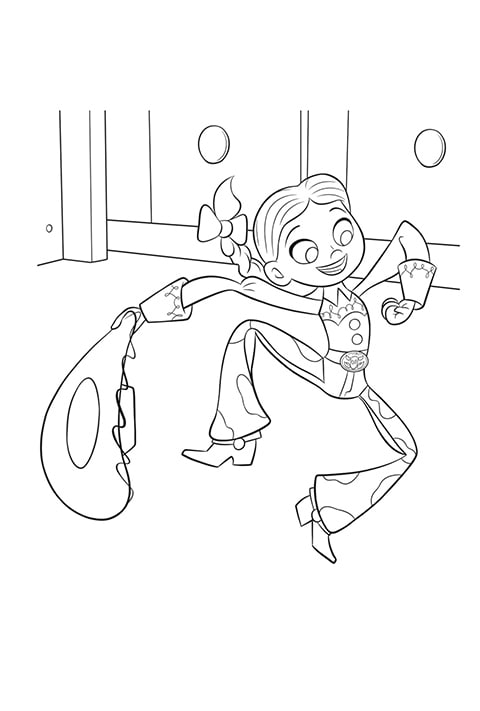 Toy Story 4 - Jesse Colouring sheet PDF