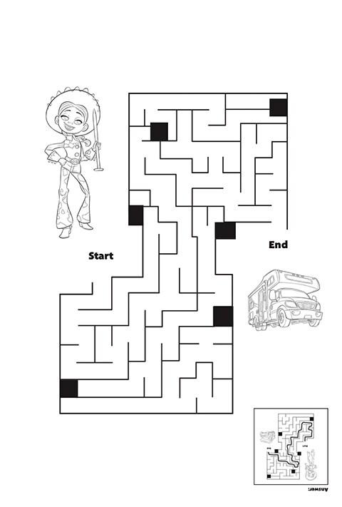 Toy Story 4 - Jessie Maze Activity PDF