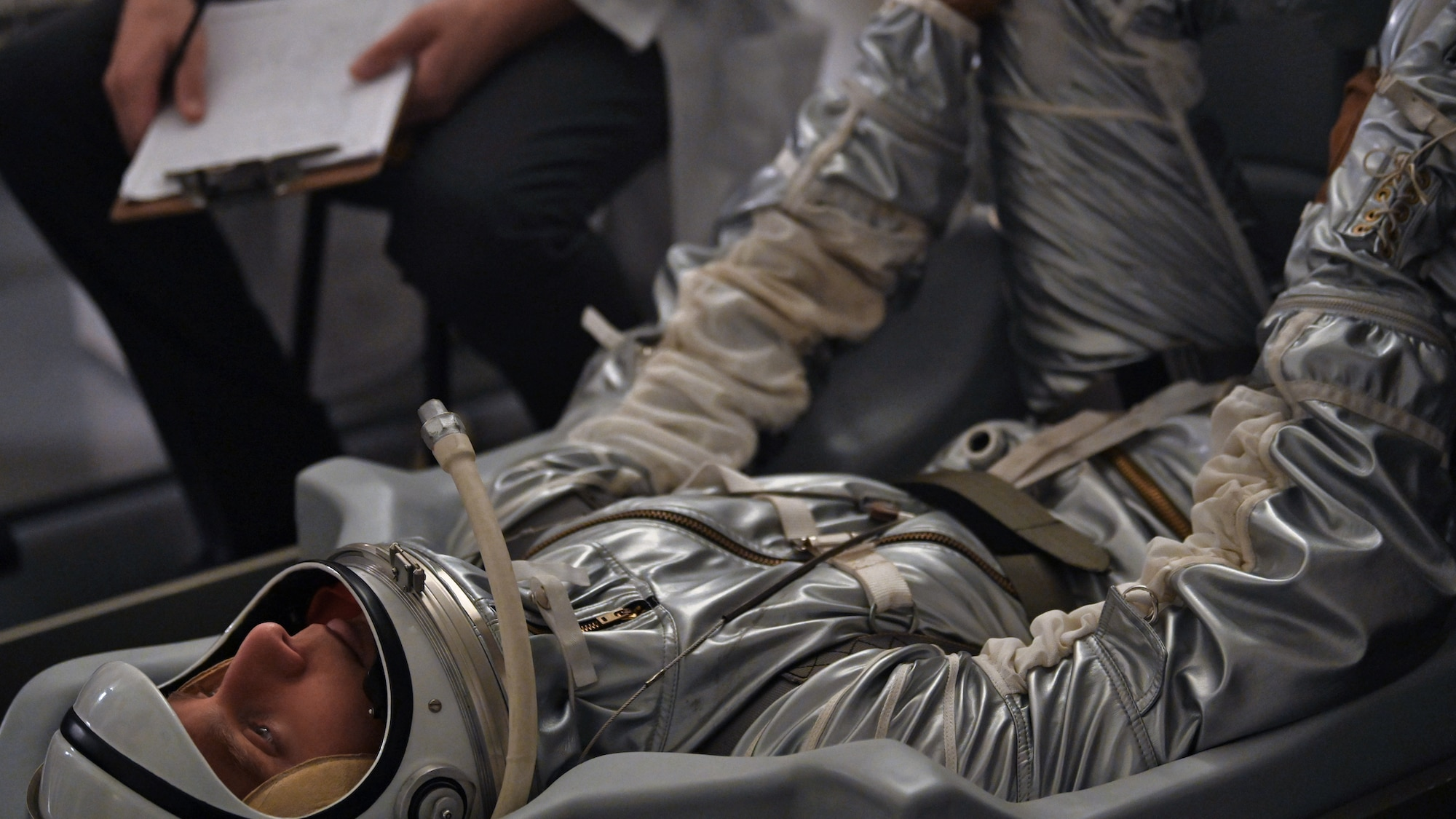 Alan Shepard, played by Jake McDorman, in space suit in National Geographic's THE RIGHT STUFF streaming on Disney+. (National Geographic/Gene Page)