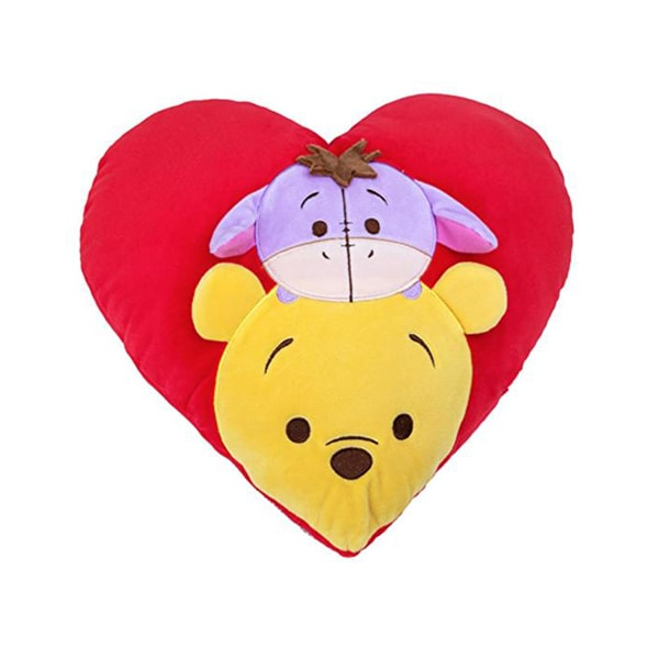 Tsum Tsum Plush Heart Shape Cushion Pooh Eeyore - SG Homepage Tracking Link