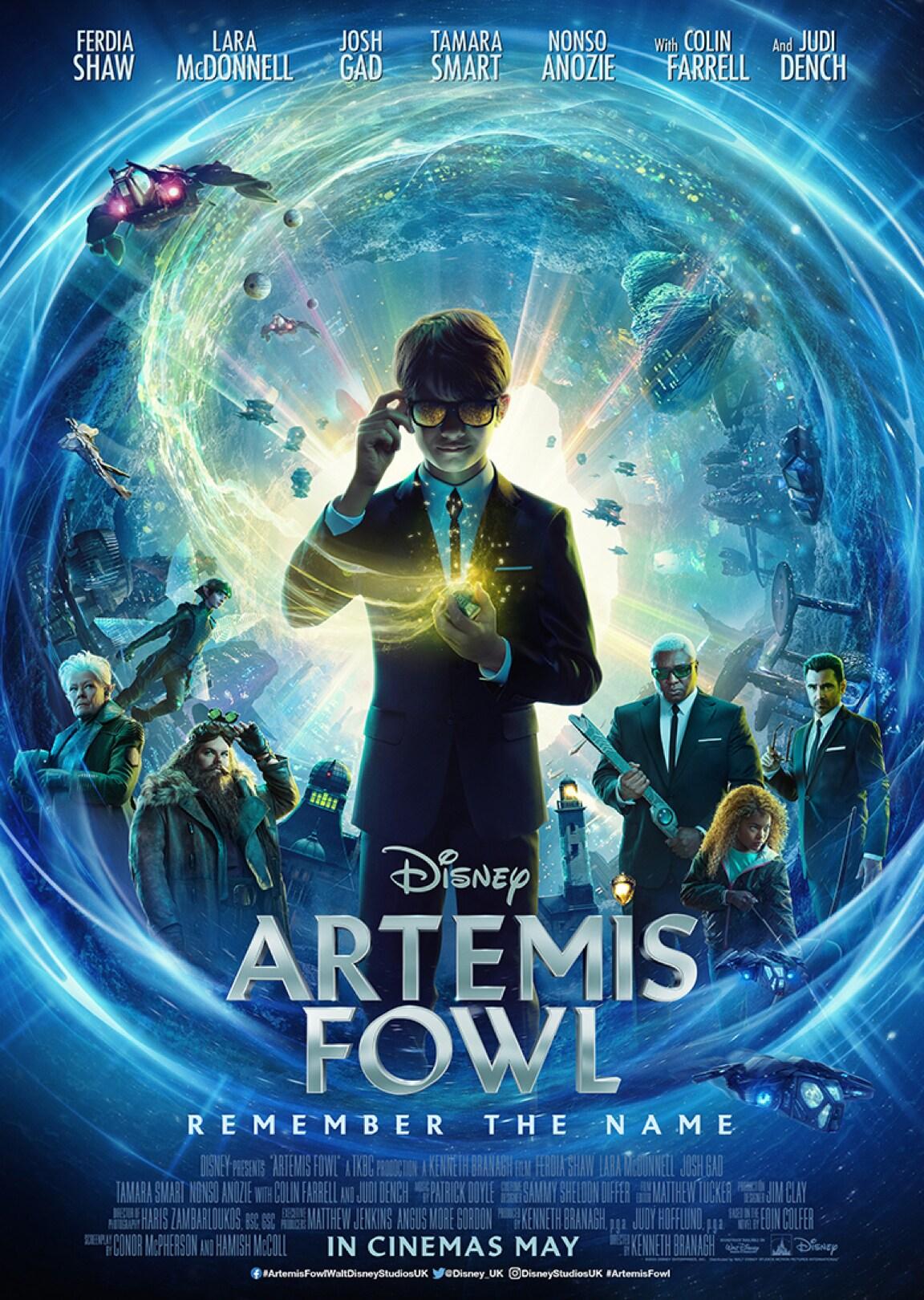 Close up of Artemis Fowl wearing sunglasses.