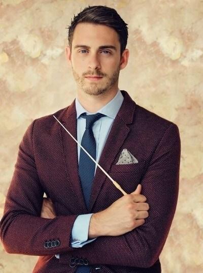 David Mahoney with his conducting stick