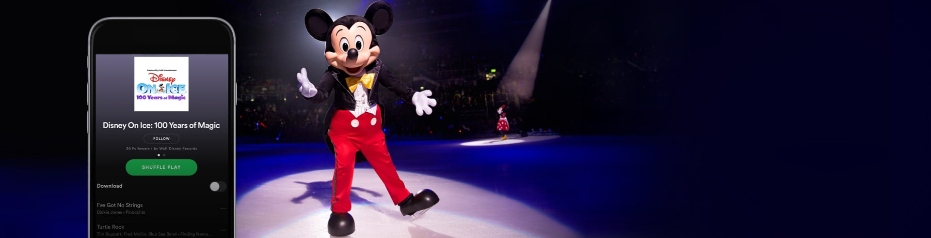 Listen now on Spotify to the Disney On Ice: 100 Years of Magic Playlist