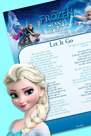 Let It Go Lyric Sheet