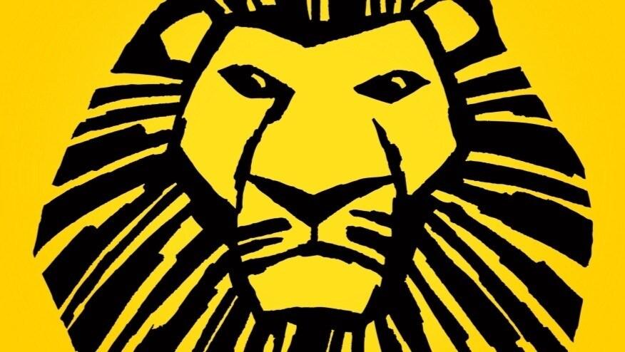 Une image en noire de Mufasa sur un fond jaune