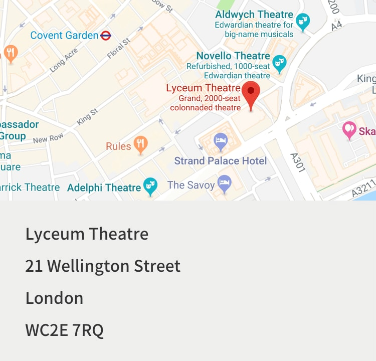 The Lion King tickets, Lyceum Theatre, London | Disney Tickets