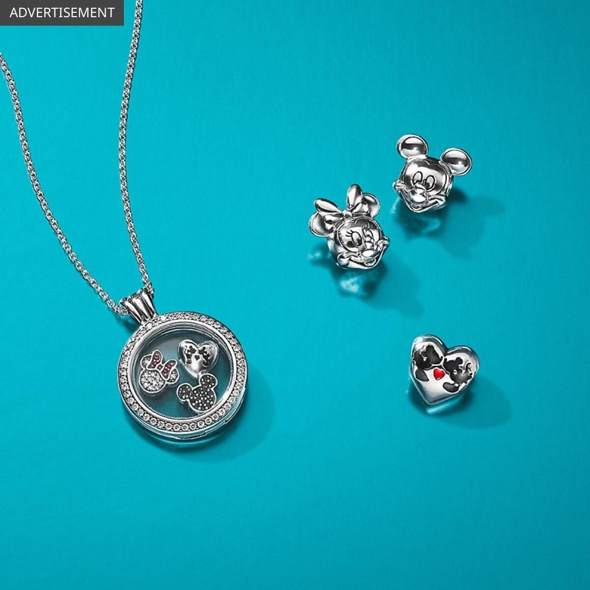 Feat | Disney Pandora | Mickey Minnie Jewellery (Large)