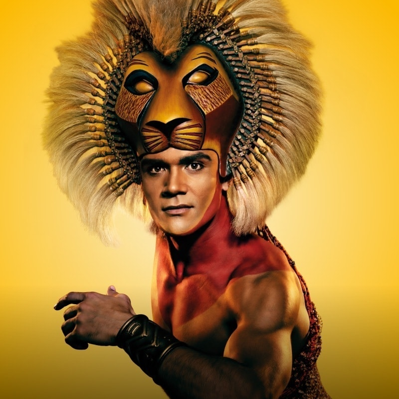 Close-up of Simba from The Lion King Musical