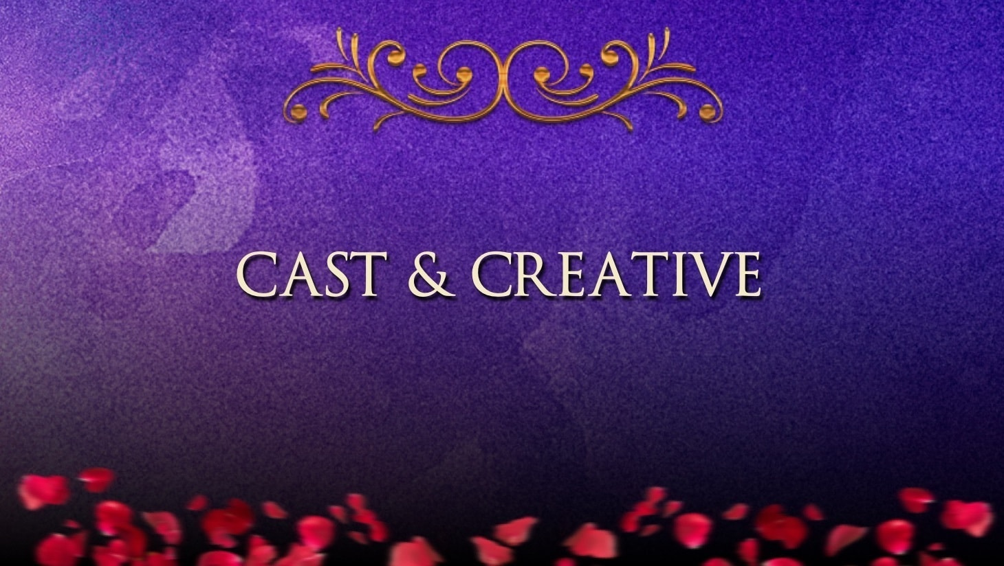 """""""Cast and Creative"""" written on a blue background"""