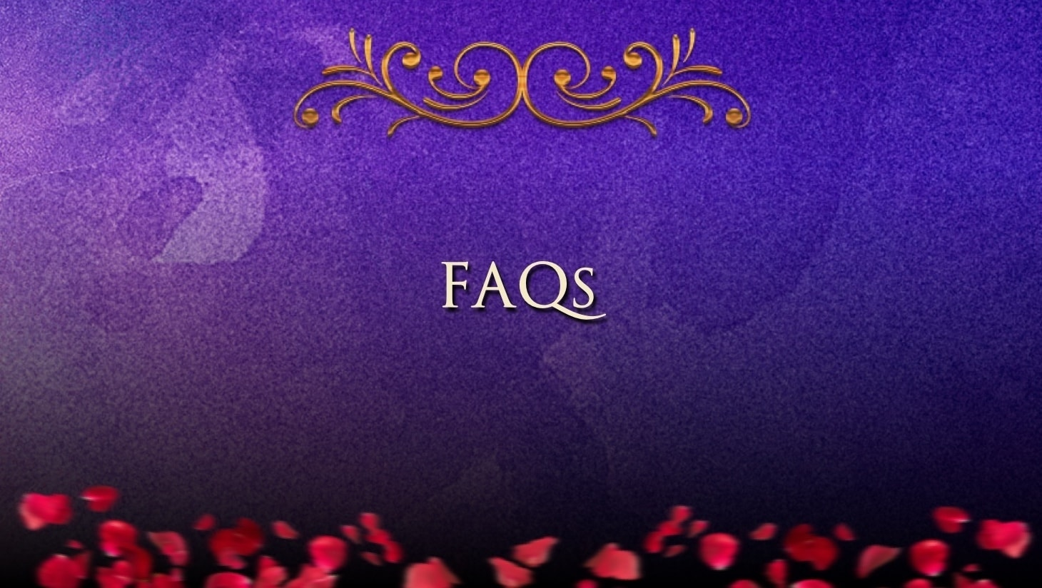 """""""Frequently Asked Questions"""" written on a blue background"""