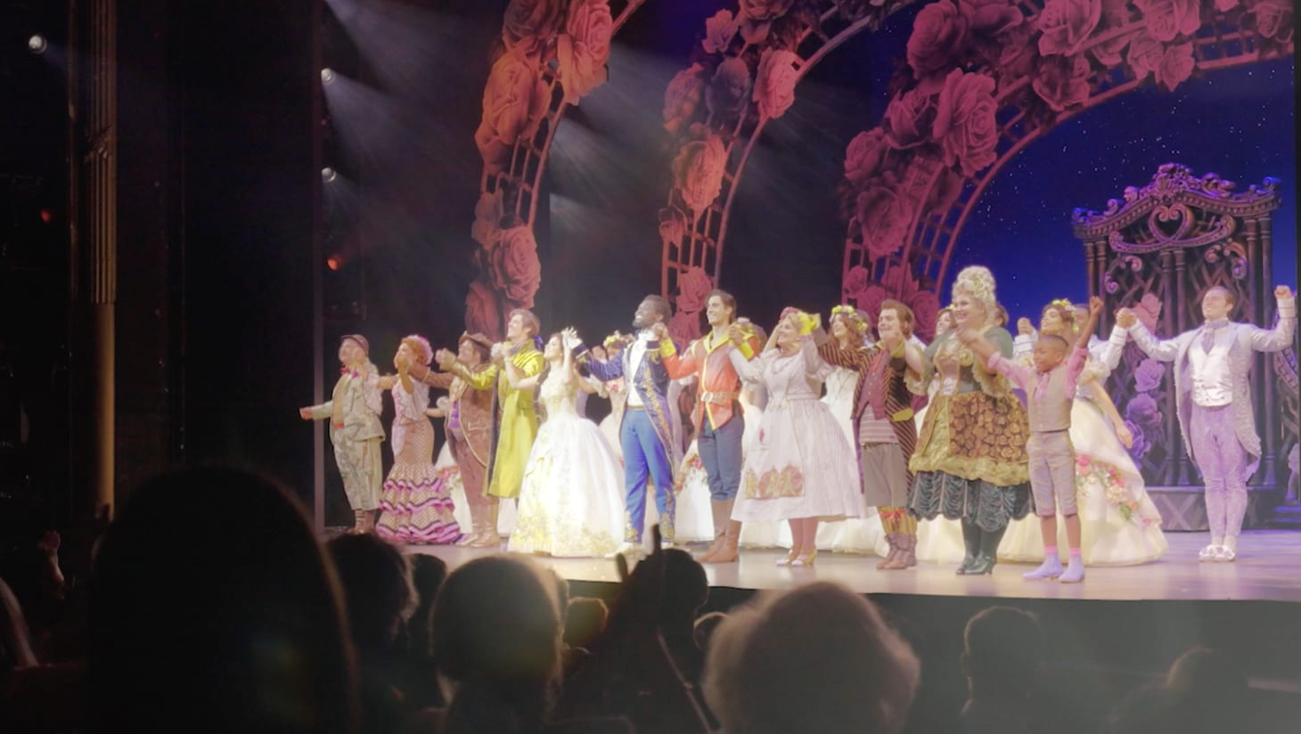 The Beauty and the Beast cast at the first performance's curtain call