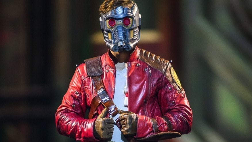 Starlord with his mask on