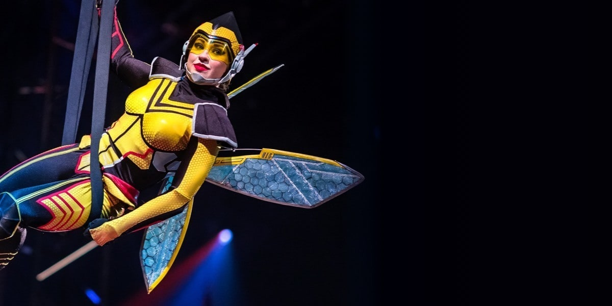 The Wasp flying through the air