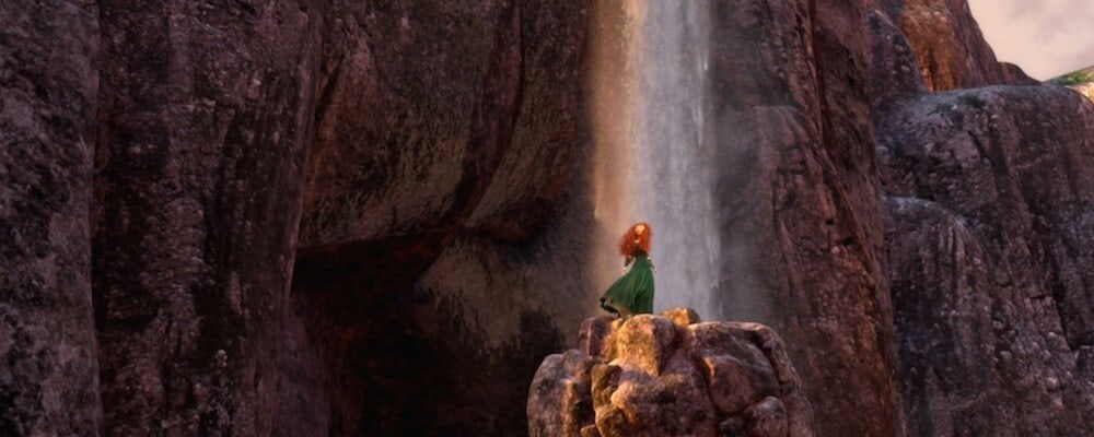 Princess Merida by a waterfall
