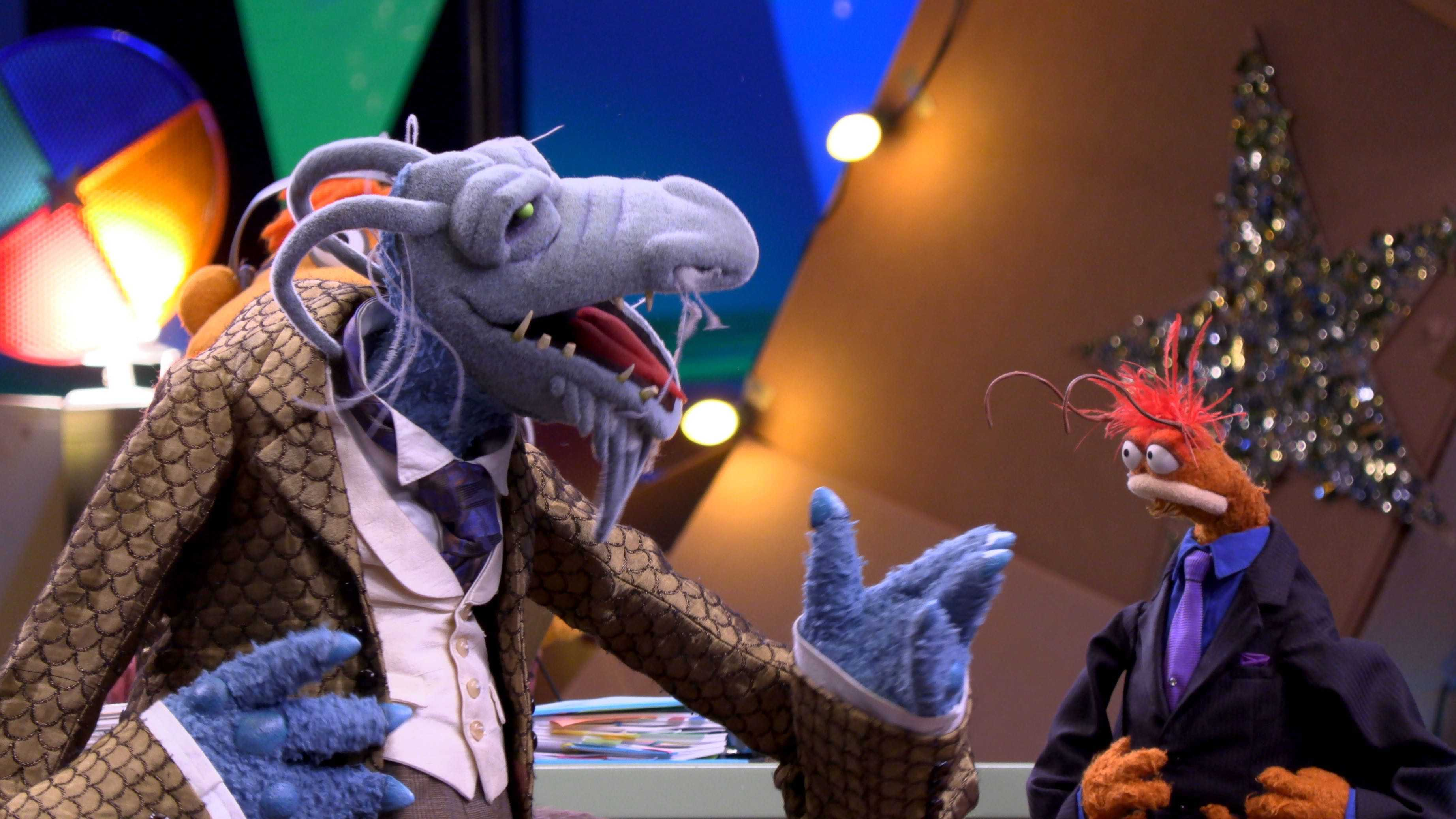 """Uncle Deadly and Pepe the King Prawn in """"Muppets Now,"""" streaming only on Disney+"""
