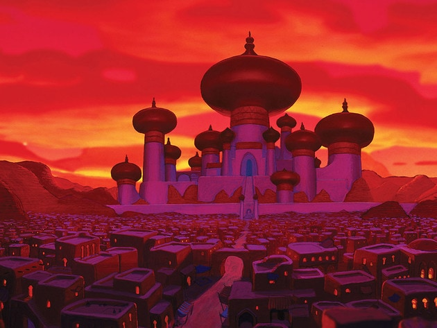Aladdin's view of the palace.