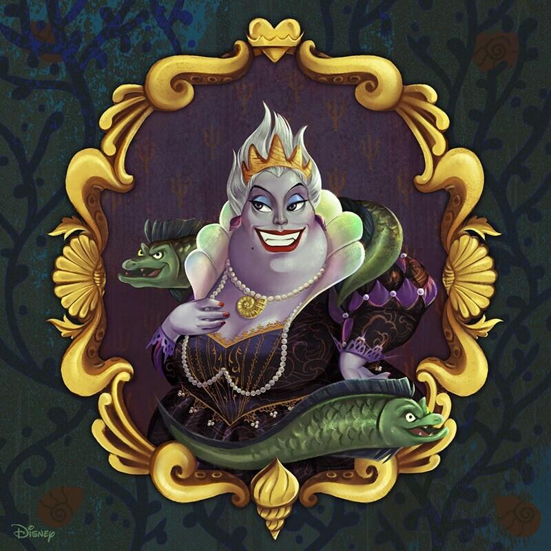 Portrait renaissance-inspired painting of Ursula