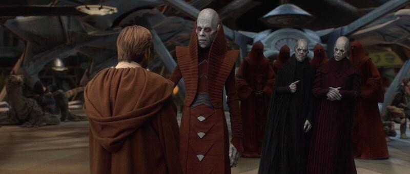 Obi-Wan Kenobi making contact with with the leaders of Utapau