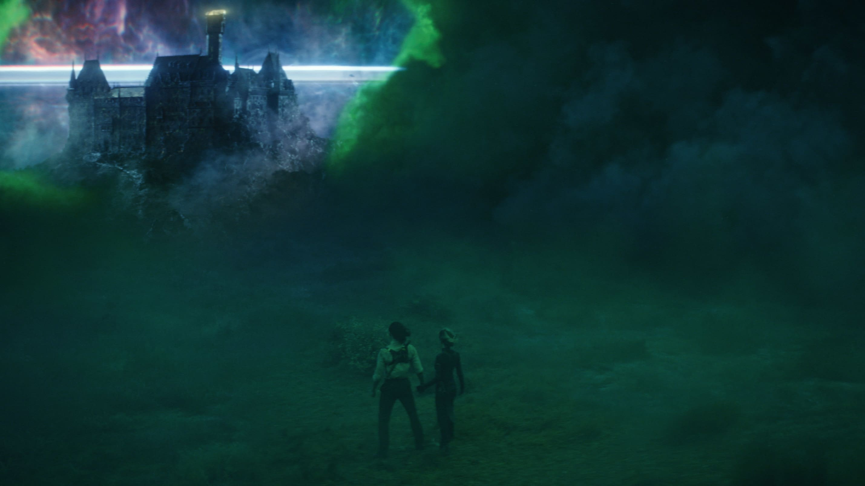 (L-R): Loki (TomHiddleston) and Sylvie (Sophia Di Martino) in Marvel Studios' LOKI, exclusively on Disney+. Photo courtesy of Marvel Studios. ©Marvel Studios 2021. All Rights Reserved.