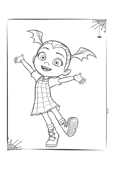Vampirina activity sheet PDF