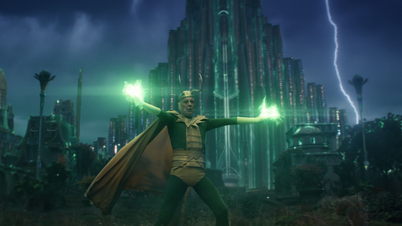 Classic Loki (Richard E. Grant) in Marvel Studios' LOKI, exclusively on Disney+. Photo courtesy of Marvel Studios. ©Marvel Studios 2021. All Rights Reserved.