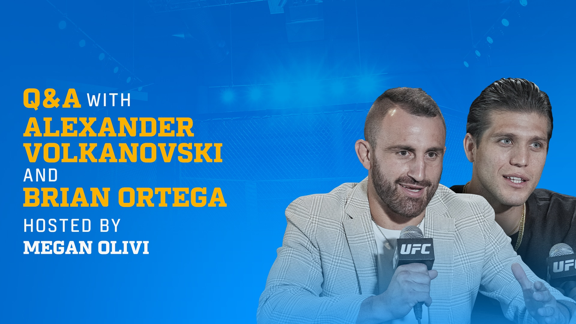 ESPN+ Fan Access: Live Fight Week Q&A with UFC's Volkanovski, Ortega