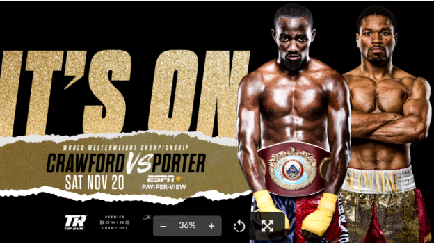 Terence Crawford-Shawn Porter Welterweight Title Showdown Set for November 20 at Mandalay Bay's Michelob ULTRA Arena in Las Vegas